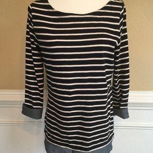 Loft Striped Layered Shirt